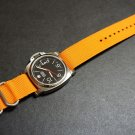 Orange 24mm 3 Ring Zulu Nylon Watch Strap Band