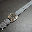 Gray 24mm 3 Ring Zulu Nylon Watch Strap Band