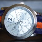 Blue and Orange 20mm Nato Nylon Watch Strap