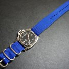 Blue 22mm 3 Ring Zulu Nylon Watch Strap Band