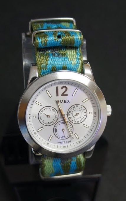 Military Army Camo Blue 20mm Nato Nylon Watch Strap