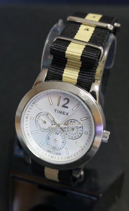 Black and Sand 20mm Nato Nylon Watch Strap