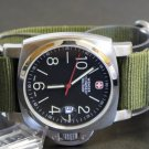 Military Green 20mm 5 Ring Zulu Nylon Watch Strap Band