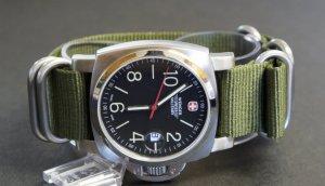 Military Green 20mm 5 Ring Zulu Nylon Watch Strap Band