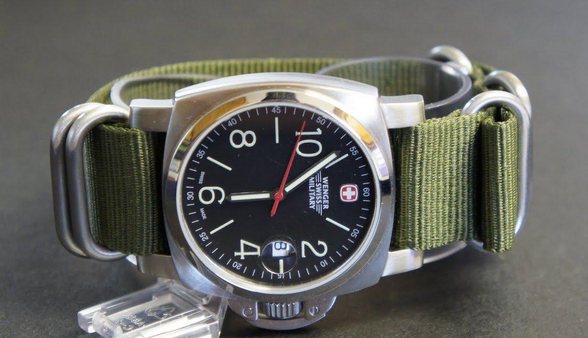 Military Green 22mm 5 Ring Zulu Nylon Watch Strap Band