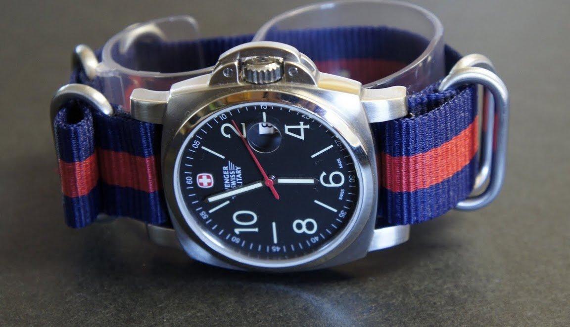 James Bond Blue Red 24mm 5 Ring Zulu Nylon Watch Strap Band