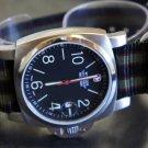 Black Red Green 20mm 5 Ring Zulu Nylon Watch Strap Band