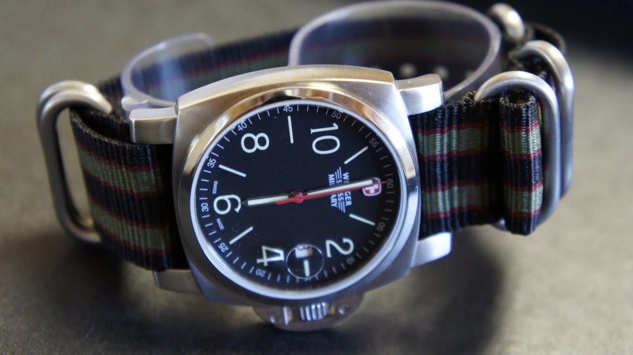 Black Red Green 24mm 5 Ring Zulu Nylon Watch Strap Band