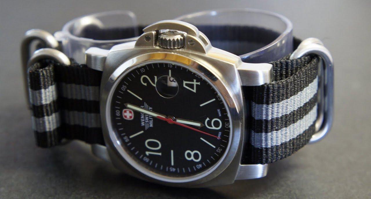Black Gray 22mm 5 Ring Zulu Nylon Watch Strap Band