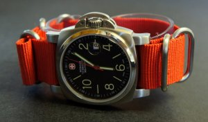 Red 24mm 5 Ring Zulu Nylon Watch Strap Band