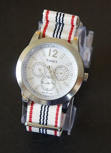 Ivory Red Black White 20mm Nato Nylon Watch Strap