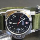 Military Green 24mm 5 Ring Zulu Nylon Watch Strap Band