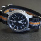 Black Gray and Orange 18mm Nato Nylon Watch Strap