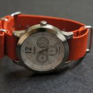 Red 24mm Nato Nylon Watch Strap