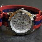 Red Blue Stripe 18mm James Bond  Nato Nylon Watch Strap