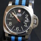 Black and Blue Stripe 20mm James Bond Nato Nylon Watch Strap