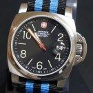 Black and Blue Stripe 20mm James Bond Nato Nylon Watch Strap