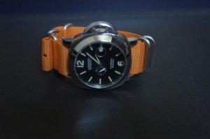 Orange 22mm 5 Ring Zulu Nylon Watch Strap Band