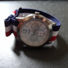 Red White Blue 20mm Military Watch Strap