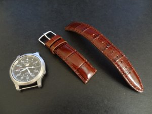 Timex Brown Alligator Leather 20mm Watch Strap Band NEW