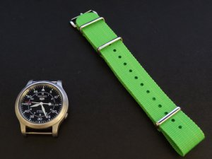 Bright Green 20mm  Nato Nylon Watch Strap