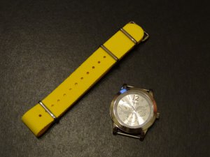 Bold Yellow 18mm James Bond Nato Nylon Watch Strap