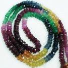 "Single Strand Natural Rainbow Beads Gemstone Strand 16"""