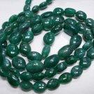 "Single Strand Natural Emerald Beads Gemstone Strand 16"""