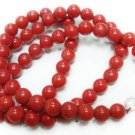 Handmade Natural Coral Gemstone Beads Necklace 8mm