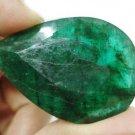 65.90cts Natural Brazilian Emerald Gemstone pear