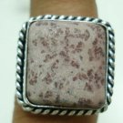 6.99gm Handcrafted Agate Gemstone & Silver Ring