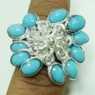 10.20Gm Handcrafted Turquoise Gemstone & Silver Ring