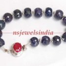 Handcrafted natural sapphire gemstone bracelet