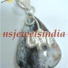 14.90gms Designer natural agate gemstone silver pendant