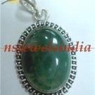 11.90gms Handmade natural onyx gemstone silver pendant