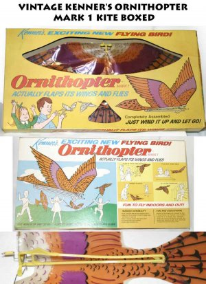 VINTAGE KENNER'S ORNITHOPTER MARK 1 flying bird  -
