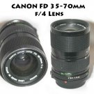 Canon FD 35-70mm F/4 Zoom Lens - Excellent Condition