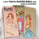 1967 Tutti Paper Doll for kids and children.