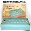 VINTAGE Rolomatic Bridge LEARNING MACHINE BY CHAS GOREN Set 1 Beginners MB 1969