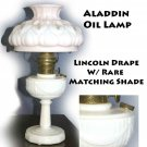 Aladdin Oil Lamp Lincoln Drape W/ Rare Matching Shade