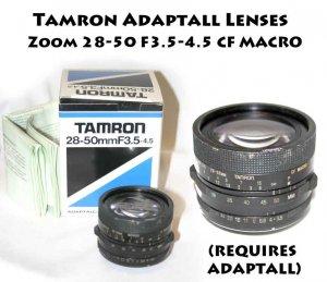 Tamron Adaptall Lenses - Zoom Lenses28-50 F3.5-4.5 CF MACRO