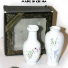 TWO NEW HAND PAINTED VASES MADE IN CHINA