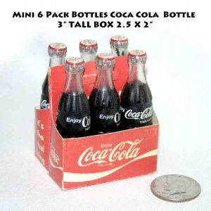 !SOLD! Mini 6 Pack Bottles Coca Cola  Bottle Coke