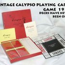 VINTAGE CALYPSO PLAYING  CARD