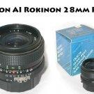 Nikon AIS: Rokinon 28mm F2.8  NEW OLD STOCK