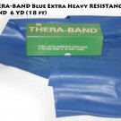 "THERA-BAND Blue Extra Heavy RESISTANCE BAND 6"" x  6 YD (18 ft)"