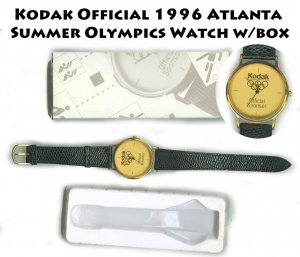 Kodak Official 1996 Atlanta Summer Olympics Watch w/box