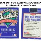 DECKS 1990 Baseball-Major League All-Stars Playing Cards -