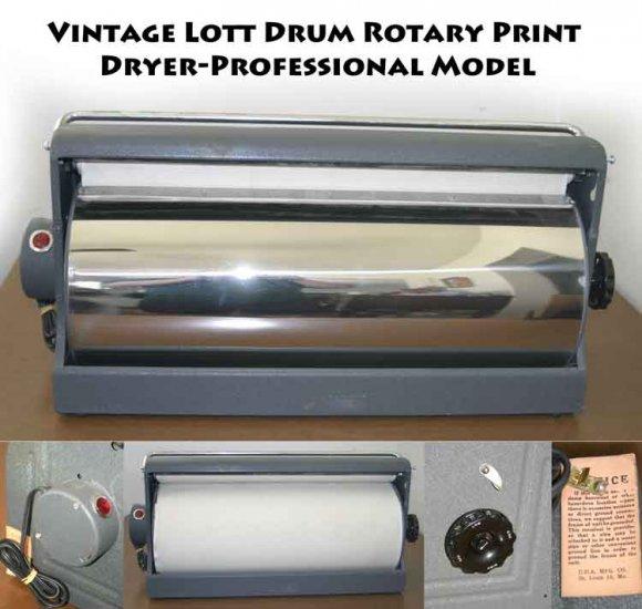 !donated !Vintage Lott Drum Rotary Print Dryer-Professional Model