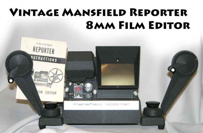 !SOLD!  Vintage Mansfield Reporter 8mm Film Editor